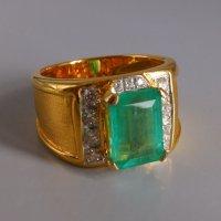 Gem Gardener, colombian emerald mens ring, emerald rings singapore, vintage emerald mens ring, mens ring singapore, vintage emerald rings
