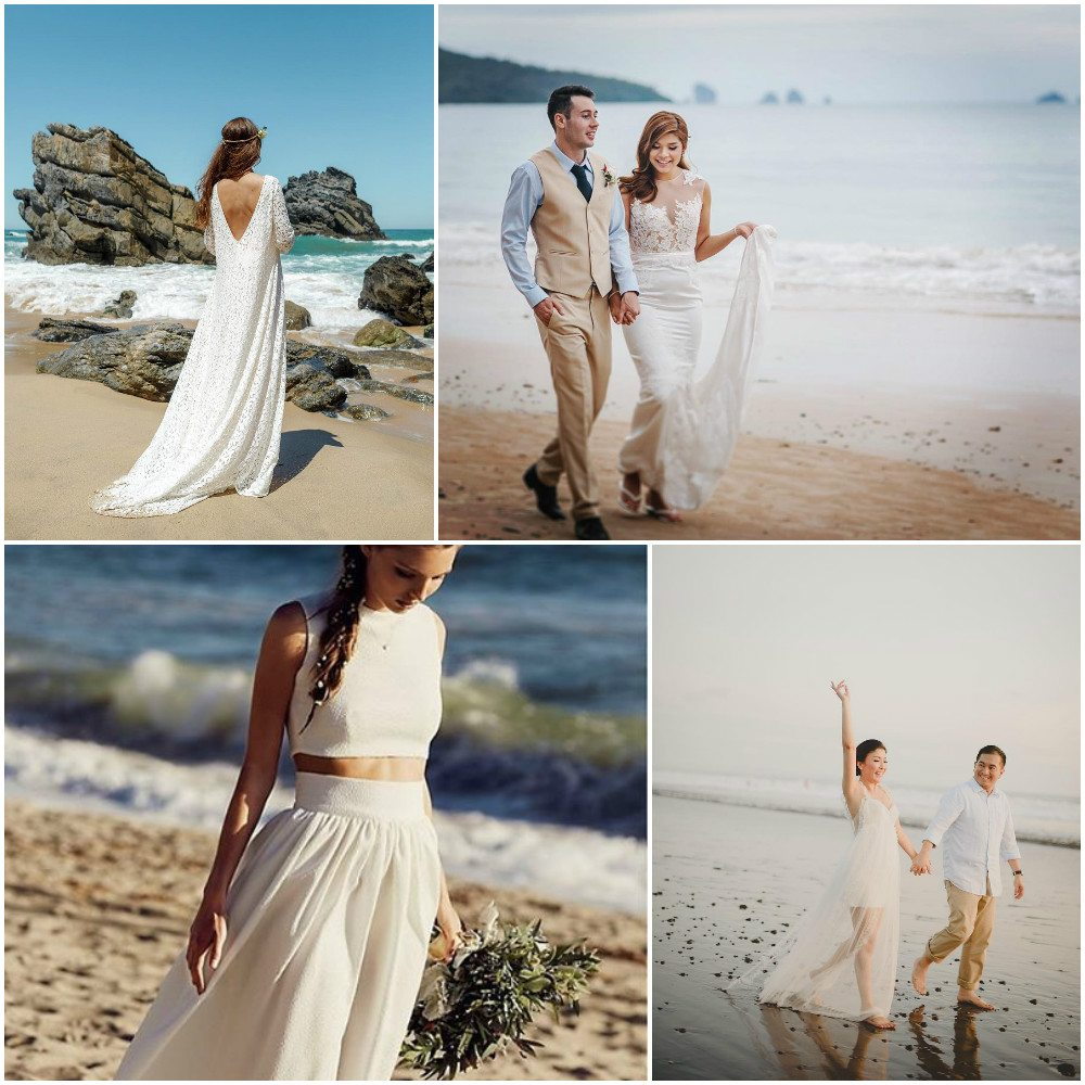 wedding dresses simple beach style