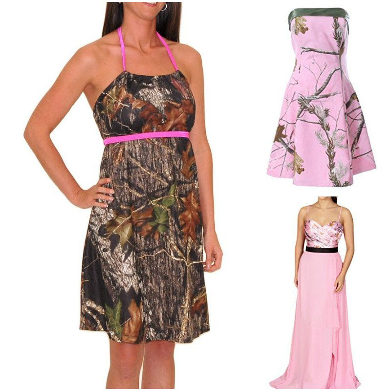 Trendy camo bridesmaid dresses for a unique wedding gem for Red camo wedding dresses