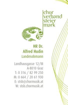 Visitenkarte Chorverband Steiermark