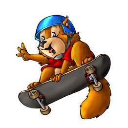 Baoqing Eichhörnchen mit Skateboard