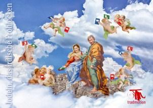 """Einladungskarte """"Jodeln ist himmlisch"""""""