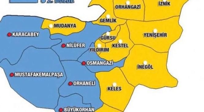 Bursa Seçimlerde İki Bölgeye Ayrıldı. Gemlik 1. Bölgede