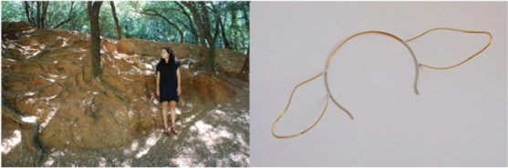 13. the floating knot t03. tiara. 2010. gilded copper wire and paint