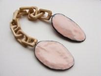 19. S is for Union. brooch. copper, enamel, wood, sterling silver, silk, steel wire 10