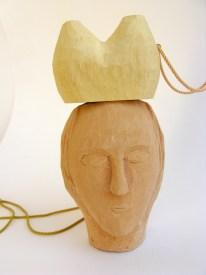 TBP5. Carved polyurethane-based modelling material, carved basswood, 9kt gold, silk thread