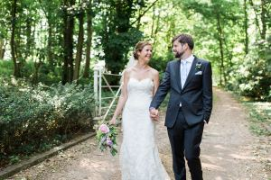 Bride and groom portraits in Polstead, Colchester