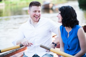 Flatford engagement shoot on the boats