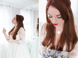 Bridal prep before wedding at Braintree Town Hall