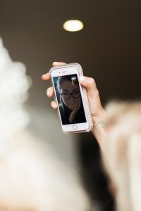 Facetiming on wedding day
