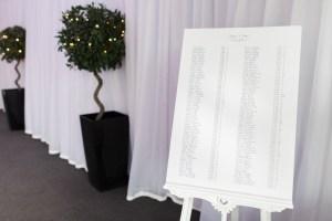 calligraphy wedding table plan