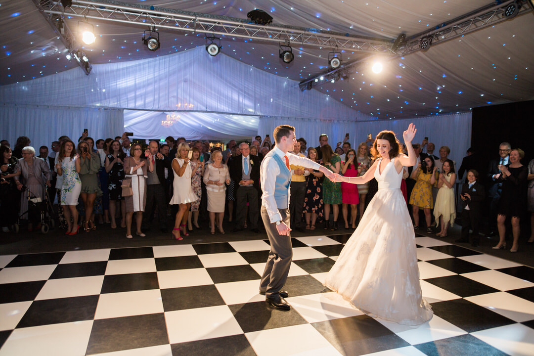 dance floor at Braxted park