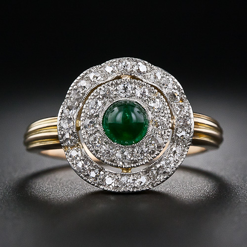 Vintage Emerald Ring In 14K Yellow Gold From Gemone