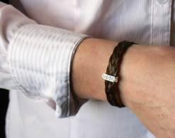 Harmony horse hair bracelet crystal slider