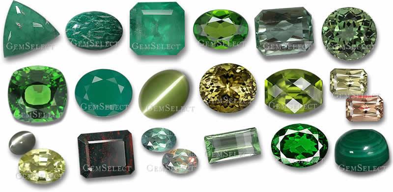 Green Gemstones From Gemselect