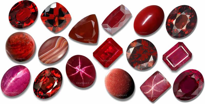 Red Gemstones List Of Red Precious Amp Semi Precious Gems