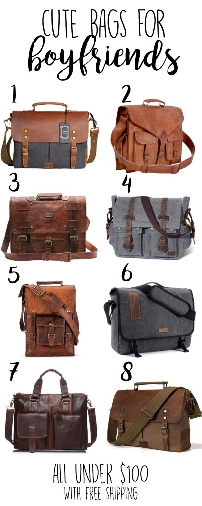 Boyfriend Gifts Leather Bags For Men Satchel Bags With Free Shipping