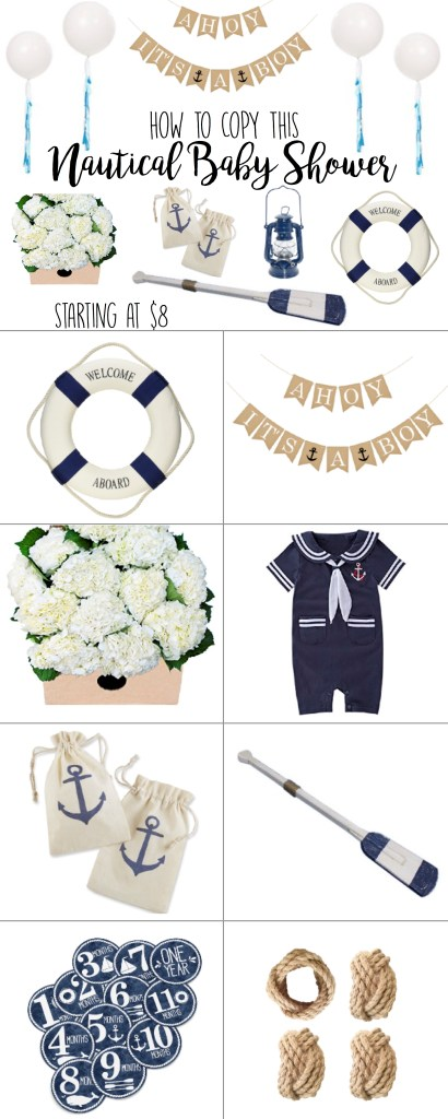 Ahoy It S A Boy Nautical Baby Shower Theme Products Ideas