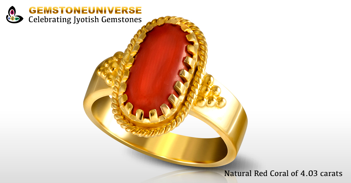 Red Coral Moonga For Mars In 1st House In Aries Ascendant