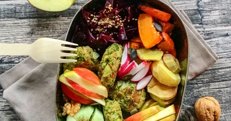 Brokkoli-Falafel in der Lunchbox