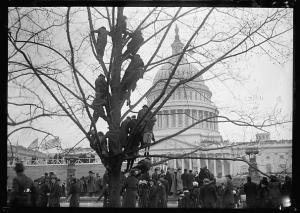 """INAUGURAL CEREMONY. CROWDS COLLECTING,"" 1913; Harris & Ewing Collection, Library of Congress Prints and Photographs Division Washington, DC 20540."