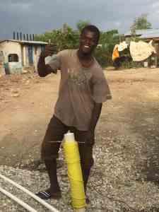 Haitian Man Well Driller