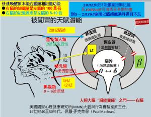 3位一體腦以音波打開間腦由Beta入Alpha-Theta-Delta啟動松果體有ESP能力
