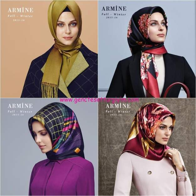 armine 2015 2016 fall winter silk scarf collection