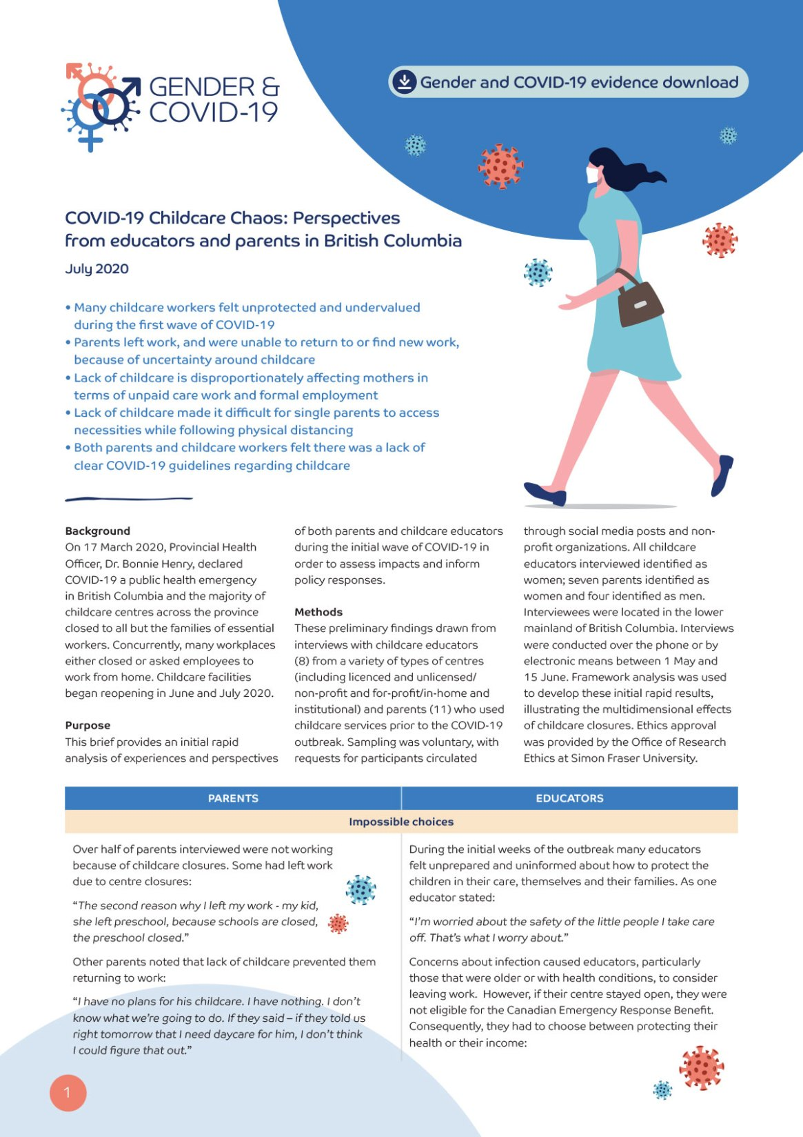 COVID-19 Childcare Chaos: Perspectives from educators and parents in British Columbia