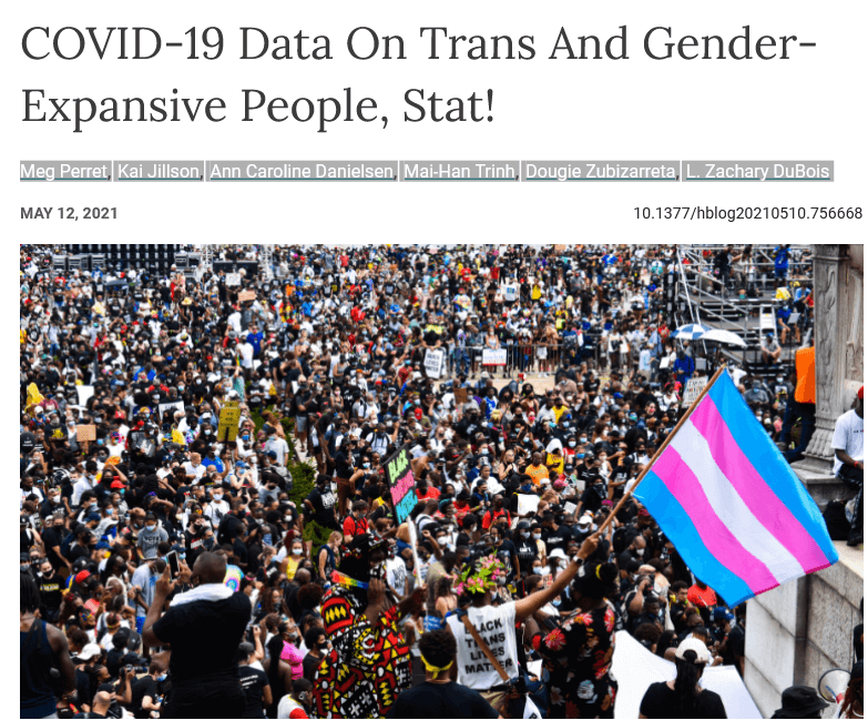 COVID-19 Data On Trans And Gender-Expansive People, Stat