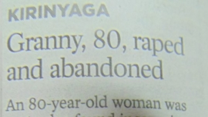 Granny 80, Raped And Abandoned