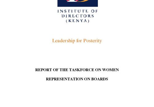 Thumbnail Of Report Of The Taskforce On Women Representation On Boards