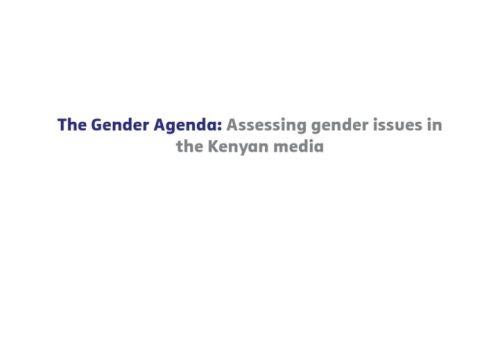 Thumbnail Of The Gender Agenda – Assessing Gender Issues In The Media