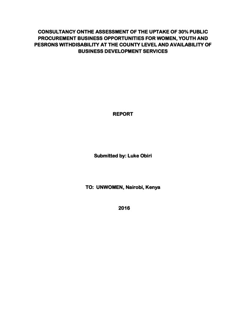 thumbnail of UN Women Report on AGPO
