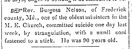 burgess-nelson-suicide-Gettysburg Republican-Compiler, April 5, 1852, pg. 3.