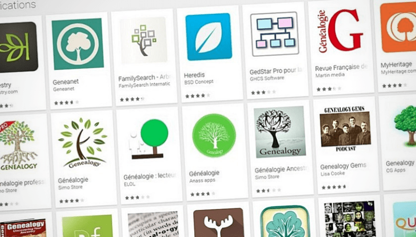 Généalogie sur Android _ 8 applications