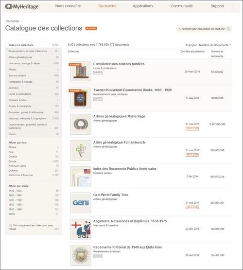 Actualité génealogie MyHeritage