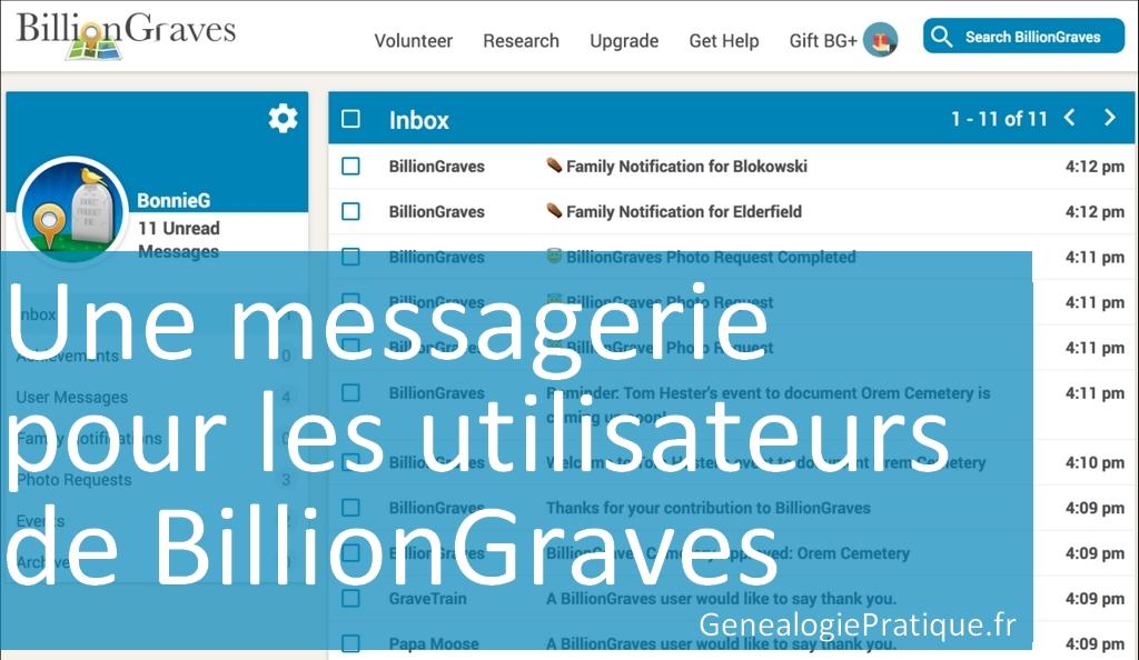 BillionGraves Messagerie
