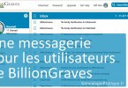 BillionGraves Messagerie