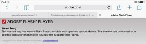 La mort de Flash : Bonne nouvelle pour les généalogistes | Adobe We are sorry