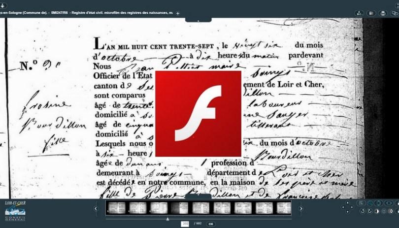 La mort de Flash Bonne nouvelle pour les genealogistes