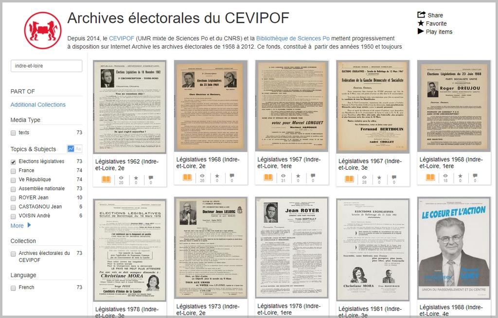 Explorez les archives électorales du CEVIPOF
