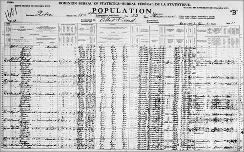 Actu genealogie octobre 2017 Canada1921