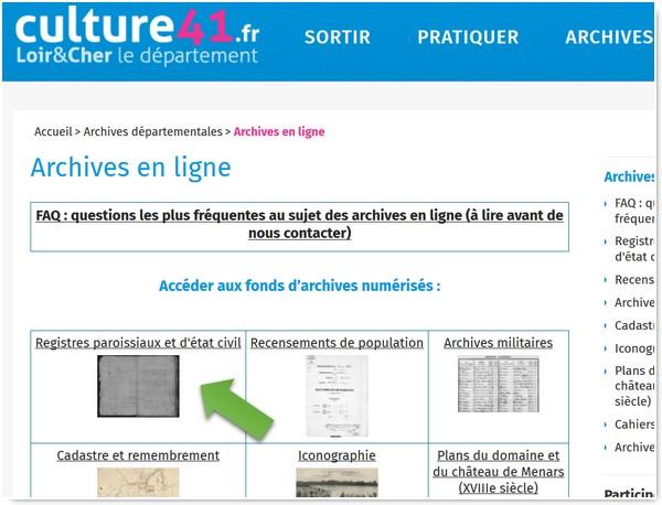 Genealogistes Utilisez Les Actes_Archives 41 page principale