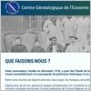 Actualité genealogie Octobre 2018 - Nouveau site du Centre Généalogique de l'Essonne