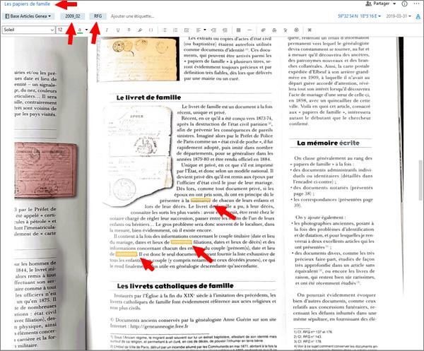 Numérisez et organisez les articles de vos magazines de généalogie - Recherche detail