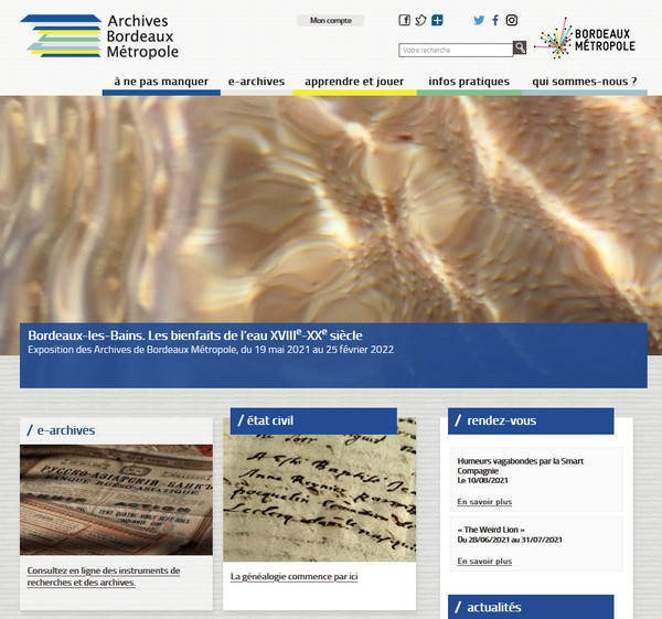 Archives de Bordeaux Métroole