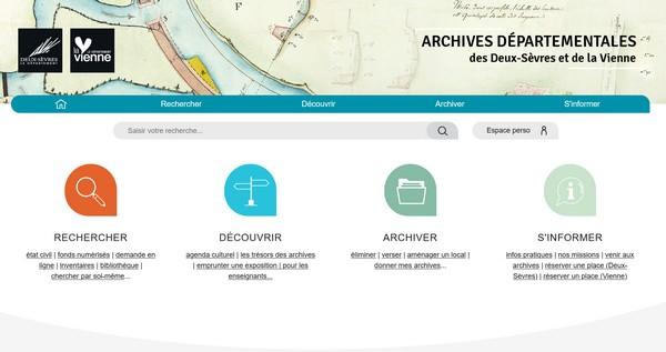 Archives départementales des deux sèvres et de la vienne
