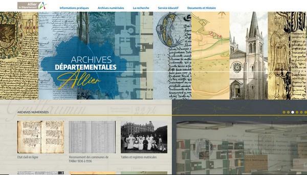 Généalogie dans l'allier - Archives départementales
