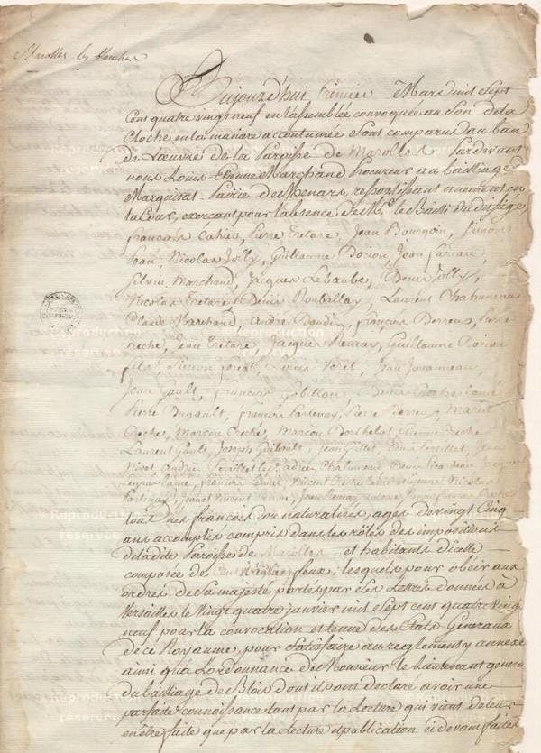 Pourquoi consulter les sites des archives départementales - Cahiers de doléances